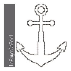 Cross stitch pattern anchor sea decoration navy ornament. on Etsy, 3,00 €