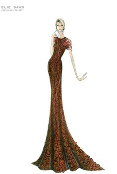 Elie Saab - Haute Couture Sketches for SS 2012 Collection