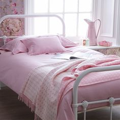 Pink Gingham Bed Linen - Cologne & Cotton