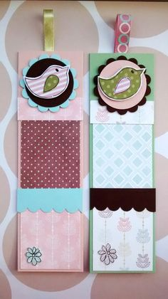 Little Bird Bookmarks Set of Two Summer by CraftyMushroomCards, £3.00