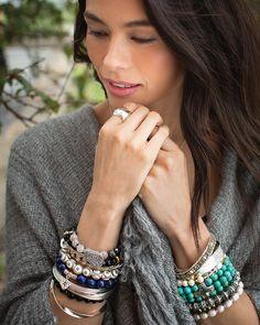 Down to Earth Stretch Bracelet | Jewelry by Silpada Designs www.mysilpada.com/karen.mahoney