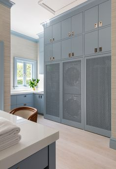 Blue Laundry Rooms, Laundry Room Colors, Mudroom Laundry Room, Laundry Room Organization, Laundry Room Design, Mud Rooms, Small Laundry, Kitchen Design, Custom Home Builders