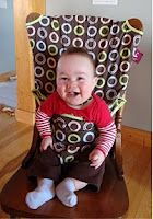 Review - Totseat Portable High Chair - ***Coupon Code*** - Little Miss Kate   Little Miss Kate