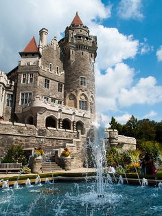 Casa Loma, Toronto_ I'm in the market looking for a fifth home. Be a dear and find out their asking price. What?! It's not for sale?? Hahahaha. You silly,silly little man. Everything's for sale for the right price !!