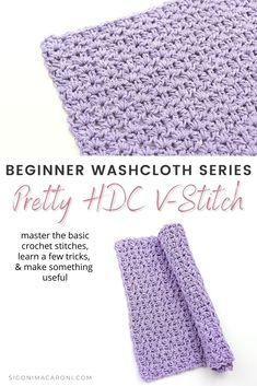 Crochet Stitches Free, Afghan Crochet Patterns, Crochet Basics, Crotchet Patterns, Stitch Patterns, Triple Crochet Stitch, Half Double Crochet, Crochet Crafts, Crochet Ideas