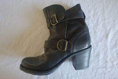 ~ FIORENTINI + BAKER BLACK LEATHER LAVERNE ANKLE BOOTS BOOTIES (OBSESSED!)  37…