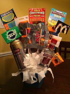 Birthday Gift For My Boyfriends 20th Boyfriend Idea Bouquet DIY Broquet Giftcard Chocolate Creative
