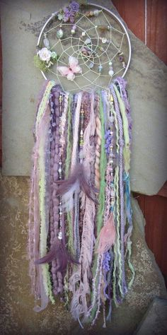 Bohemian Dreamcatcher Romantic Woodland Fairy by catcherfordreams, Fairy Crafts, Diy And Crafts, Arts And Crafts, Dreams Catcher, Los Dreamcatchers, Fairy Bedroom, Home Decor Sale, Romantic Home Decor, Woodland Fairy