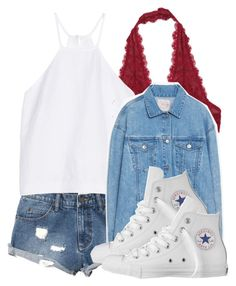 A fashion look from October 2015 featuring white halter neck top, oversized jacket and destroyed jean shorts. Browse and shop related looks. Cheap Outfits, Cheap Clothes, Iphone Wallpaper Tumblr Aesthetic, Oversized Jacket, Destroyed Jeans, Jean Shorts, Free People, Converse, Fashion Looks