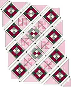 Dawn's Light Baby Quilt - Arrange blocks, setting triangles and sashing components into diagonal rows