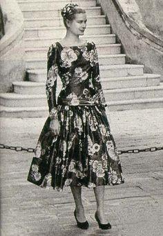 Grace Kelly floral dress