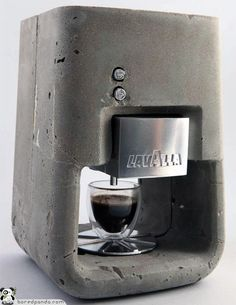 A concrete coffee maker. Two of my obsessions, combined.