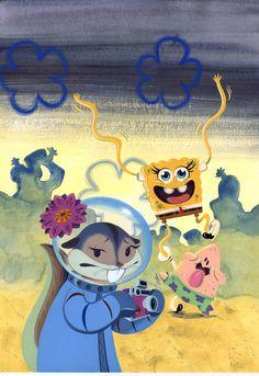 sandy-spongebob-patrick