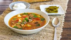 Beef Soup - a traditional Romanian soup full of veggies, very healthy and delicious.