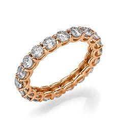 diamond eternity ring, eternity band, 14k rose gold eternity, diamond wedding band