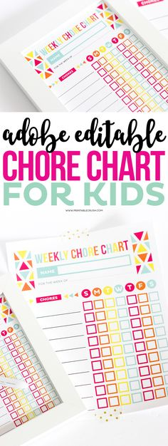 Chore Chart for Kids Daily chore charts, Chart and Printable - chore chart