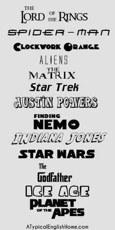 More free movie fonts.