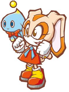 Cream the rabbit with Chao - Sonic the Hedgehog