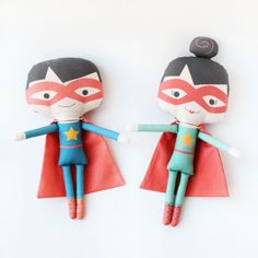 superhero + heroine handmade dolls