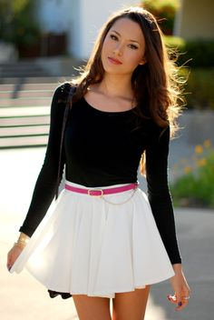 Beautiful Girl Image, Beautiful Asian Girls, Skirt Outfits, Cool Outfits, Hapa Time, Jessica Ricks, Girls In Mini Skirts, Cute Skirts, Elegant Outfit