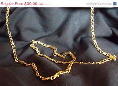 Sale Gold Filled Chain Necklace and Bracelet Set  by EstatesInTime
