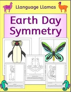 Earth Day Symmetry. 18 pages of fun Earth Day symmetry activities - perfect for math centers, morning work or fast finishers. Each picture comes with a paragraph of information on the endangered animal.This Earth Day symmetry pack contain 6 pictures of endangered animals  *  a Hawksbill Sea Turtle, *  a Black-eyed Leaf Frog, *  a Northern Rockhopper Penguin, *  a Queen Alexandras Birdwing butterfly, *  a Red Panda,*  a Tiger.