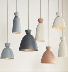 Home living / Hazel Large Smooth Bell Pendant Available in 4 Mix-and-Match Colors Ceramic Light, Ceramic Pendant, Pendant Lamp, Ceramic Lamps, Large Pendant Lighting, Kitchen Lighting, Home Lighting, Lighting Design, Lighting Ideas