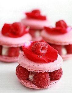 mmmmm . . . .Raspberry Rose Macroons
