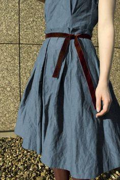 Paperbag ensemble dress, free downloadable pattern