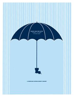 Harvey Danger: Death Cab For Cutie - poster for a Hurricane Katrina Benefit concert