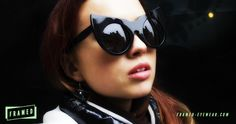 Kate in our Catwoman inspired cateye sunglasses #ThePleasureVictim