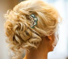 curly pony updo for short to medium hair