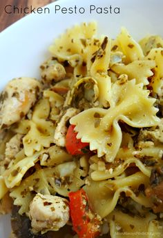 Chicken Pesto Pasta Recipe. Quick, easy and delicious. A family favorite at my house!