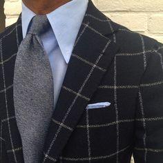 """Viola Milano - @rickycarlo wearing a Viola Milano """"Glacier"""" 7-fold cashmere tie…"""