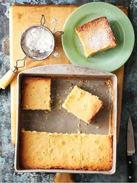 Missouri's Gooey Butter Cake - Perfectly soft and delicious!  http://www.midwestliving.com/recipe/pound-cakes/missouris-gooey-butter-cake/
