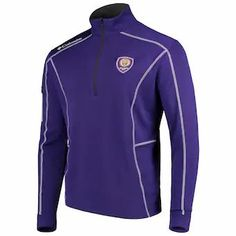 Men's Orlando City SC Columbia Purple Shotgun Quarter-Zip Pullover Jacket