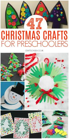 Preschool christmas crafts 47 Fun and Easy Christmas Crafts for Preschoolers - Crafts on Sea - Food and drink Preschool Christmas Crafts, Santa Crafts, Winter Crafts For Kids, Holiday Crafts, Fun Crafts, Paper Crafts, Christmas Activities For Children, Easy Christmas Crafts For Toddlers, Simple Christmas