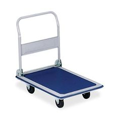 S.P. Richards Company Folding Platform Truck, 330 lbs., 18-1/8 x 29 x 29-1/2 Inches, Blue/Gray (SPR02039)