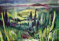 Werke   Bernhard Vogel Watercolour Painting, Painting & Drawing, Watercolours, Impressionist Landscape, Landscape Art, Christian Hook, Kunstjournal Inspiration, Art Tutorials, Original Artwork