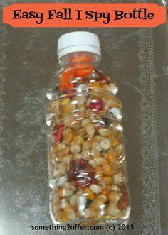Thanksgiving Kids Activities- I Spy Bottle