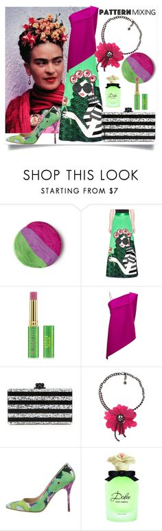 """""""Stay Bold: Pattern Mixing"""" by m-illumino-di-glamour ❤ liked on Polyvore featuring Alice + Olivia, Tata Harper, Roland Mouret, Edie Parker, Lanvin, Manolo Blahnik and Dolce&Gabbana"""