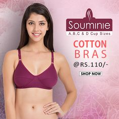 Buy #Souminie #cotton #bras in A.B.C.D cup sizes, starting Rs. 110 @ www.bellelingeries.com Affordable Lingerie, Belle Lingerie, Shop Now, Bikinis, Cotton, T Shirt, Shopping, Fashion, Arms