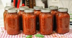 This recipe yields ten jars of beautiful, fragrant, chunky tomato sauce that you will love spooning onto your pasta and pizza. Homemade Tomato Sauce, Canned Tomato Sauce, Spagetti Sauce, Pressure Canning Recipes, Tomato Juice, Saute Onions, How To Can Tomatoes, Marinara Sauce, Korn