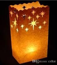 Image result for christmas paper bag luminaries