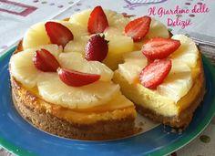 Torta con philadelphia ed ananas