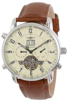 Breytenbach BB7745BE - Reloj analógico unisex, correa de cuero color marrón