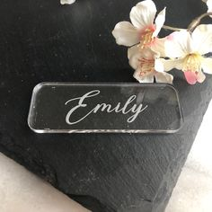 Clear Acrylic Table Names, Personalised Place Setting, Wedding Place Name, Laser Engraved Place Card Wedding Place Names, Wedding Places, Wedding Day, Acrylic Table, Place Settings, Laser Engraving, Clear Acrylic, Custom Design, Place Cards