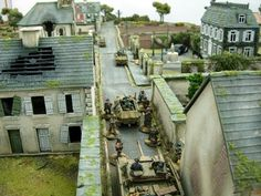 Bolt Action Miniatures, Lead Adventure, D Day Normandy, Chain Of Command, Game Terrain, City Model, Wargaming Terrain, Military Diorama, Tabletop Games