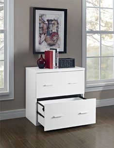 Dorel Home Furnishings Princeton Lateral File Cabinet Multiple Colors, White
