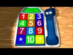 Learn numbers with this animated phone on YouTube. This talking phone teaches kids numbers 1-10. #education #kids #numbers